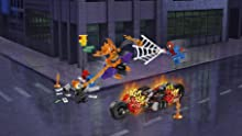 Weapons include Ghost Rider's fire chain and Hobgoblin's flaming pumpkin bomb