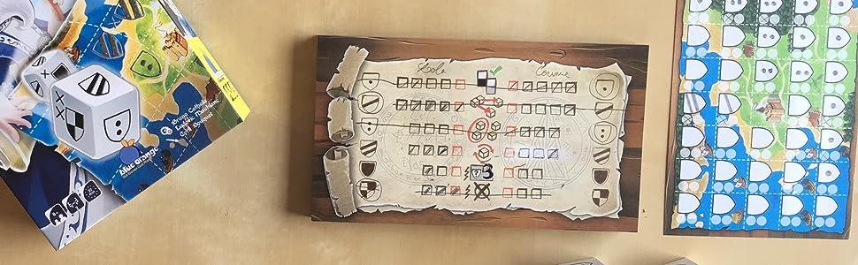 Kingdomino Duel, Roll & Write, Kingdomino, Spiel de Jahres, Bruno Cathala, board game,