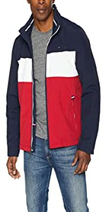 bfbb2a93 Tommy Hilfiger Men's Stand Collar Lightweight Yachting Jacket · Tommy  Hilfiger Men's Performance Taslan Windbreaker Jacket With Hidden Hood ...