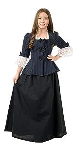 Girls Martha Washington Colonial GIrl Costume
