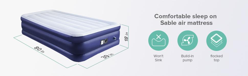 Amazon.com: Sable - Colchón de aire con falda de cama ...