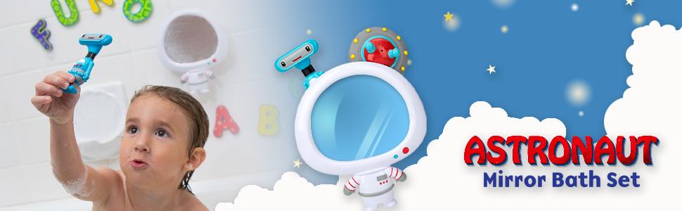 astronaut mirror bath set