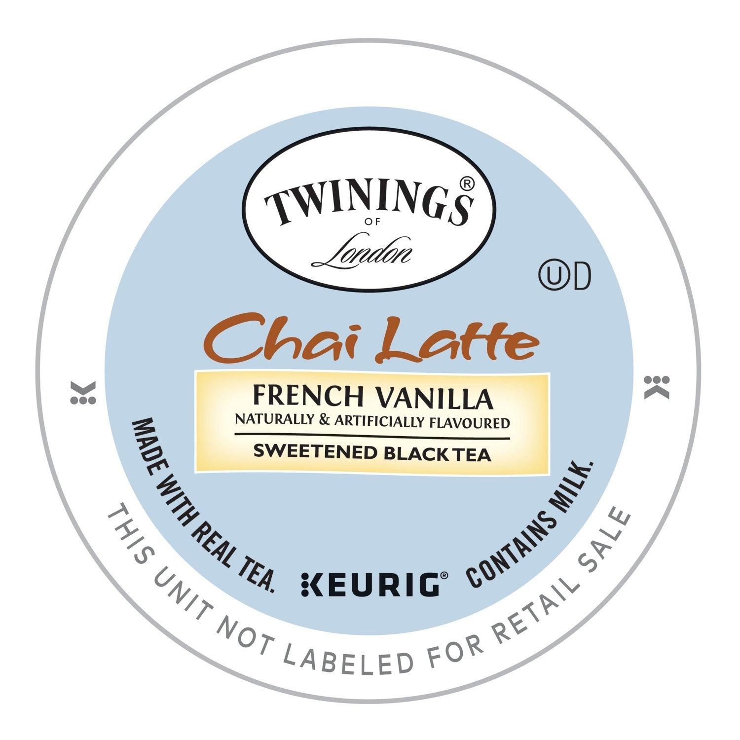 Twinings French Vanilla Chai Latte Keurig K Cups 12