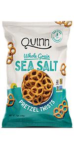 Quinn Sea Salt Twists pretzels whole grain healthy clean snacks