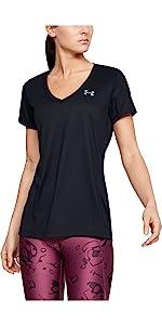 UA Tech - Camiseta con cuello en V