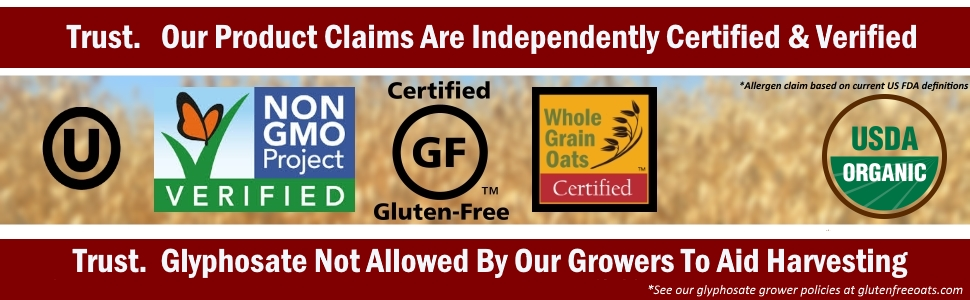 gluten, gluten free, celiac, gluten free oatmeal, non-gmo, gluten free oats, glyphosate, oatmeal