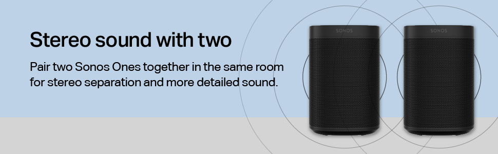 Sonos One - Stereo sound with two