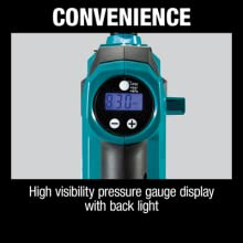 convenience high visibility pressure gauge display with back light