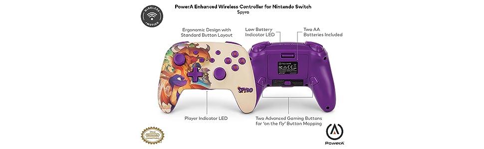 PowerA - Mando inalámbrico mejorado Spyro (Nintendo Switch ...