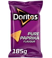 Doritos Tortilla Chips Pure Paprika, Doos 10 stuks x 185 g