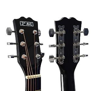 3rd Avenue STX10ANPK - Paquete de guitarra acústica, Natural ...