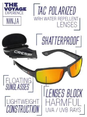 Amazon.com : Cressi UV400 Polarised Sunglasses Mens (Ultra ...