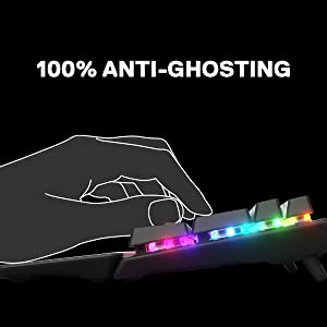 100 % Anti-Ghosting med 104 tangenters Rollover