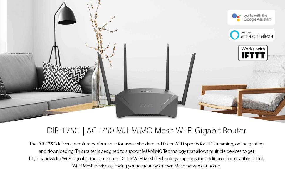 DIR-1750, router, d-link, mesh, wi-fi, gigabit
