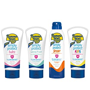 Banana Boat Simply Protect Faces Sunscreen Lotion For Sensitive Skin Spf 50 3 Fl Oz Pack Of 3