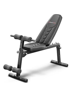 Sportstech Banc de Musculation Pliable Multifonction Sit up Fitness BRT100500 inclinable muscu Entrainement, réglable, poignées Push up Fitness