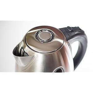 electric kettle bonavita bouilloire électrique tea stainless ovente BPA Free LED design silver pot