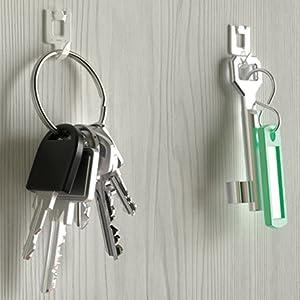 llaves, fotos, cuadros, espejos, relojes, abrigos, colgar, fijar, trapos