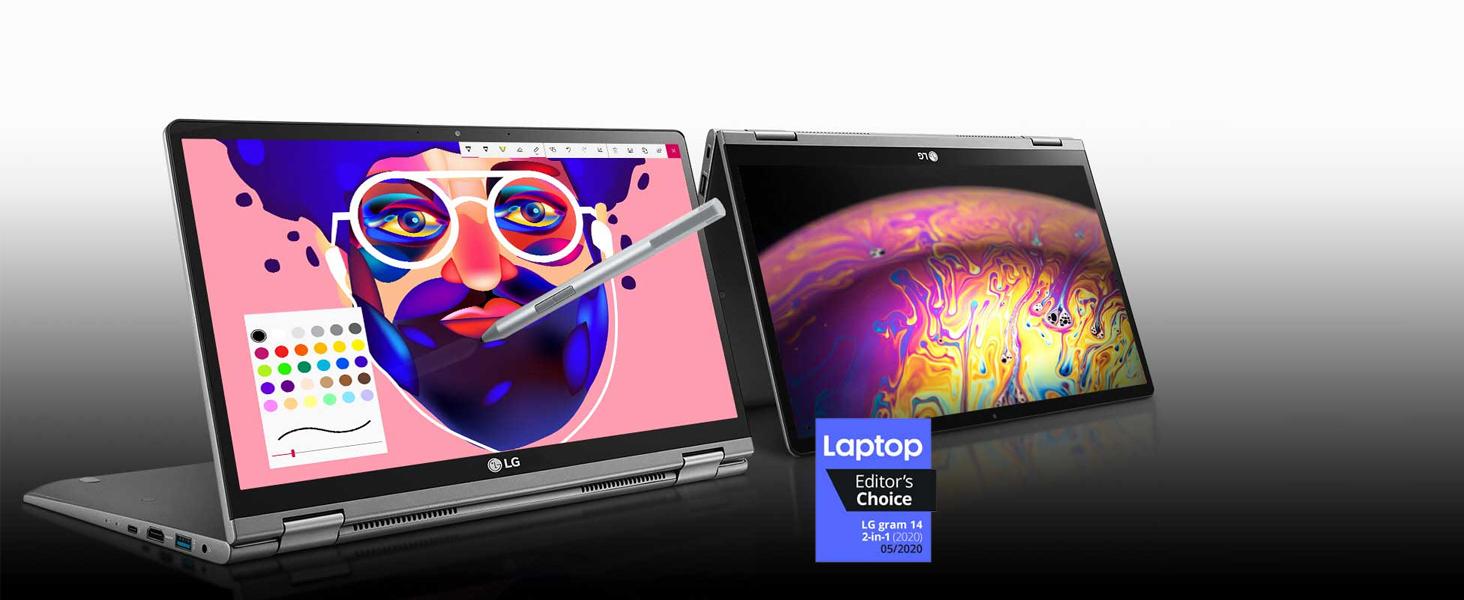 LG gram 14'' i7 Processor 2-in-1 Ultra-Lightweight Laptop