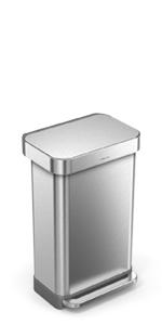 Amazon.com: Contenedor para basura rectangular con abridor ...