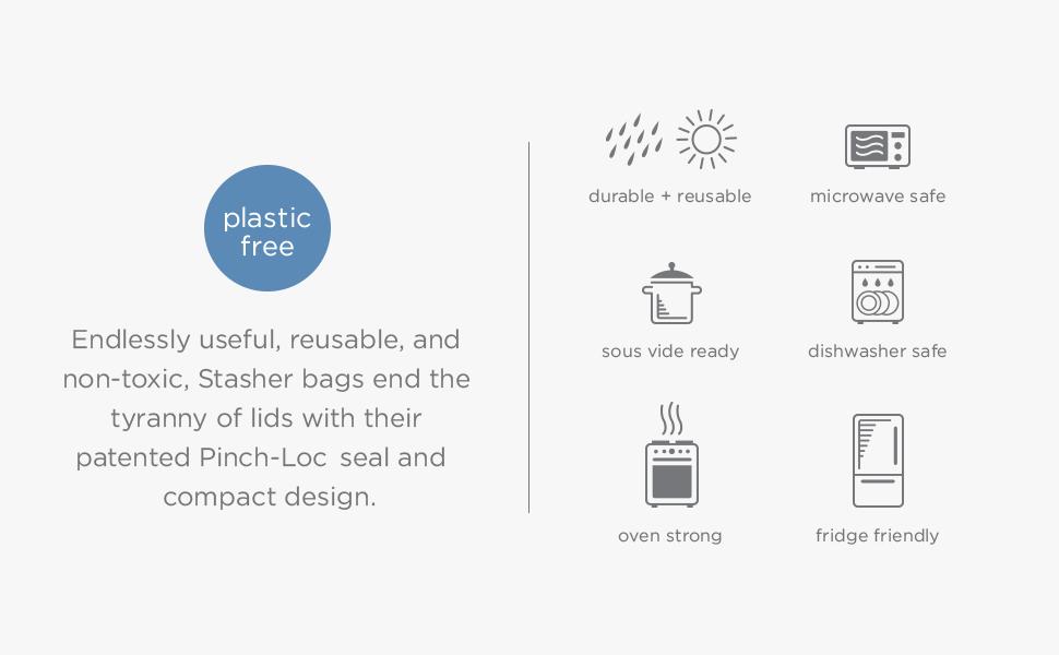 Silicone, Storage, Bag, Reusable, Gallon, Sandwich, Ziploc, Alternative, Freezer, Plastic, Snack