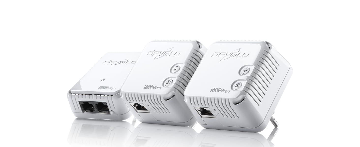 Devolo Dlan 500 Wifi Network Kit Powerline Weiß Computer Zubehör
