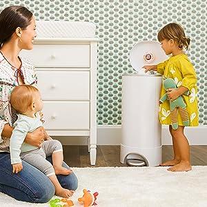 step diaper pail