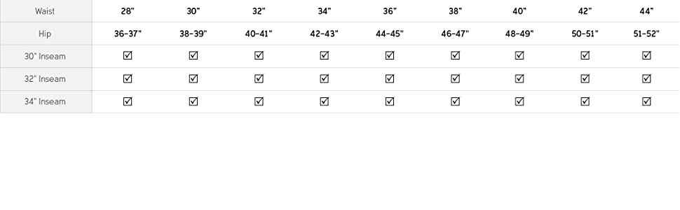 Men's pant size and fit guide