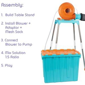 foam fun assembly