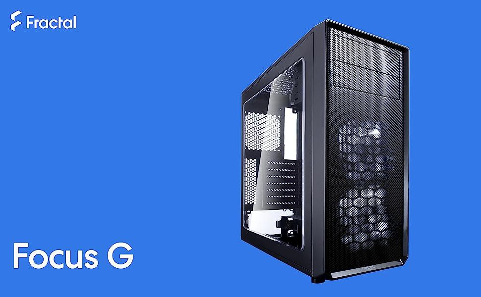 Petrol Blue Fractal Design Focus G ATX Mid-Tower Computer Case
