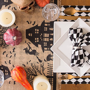 pumpkin cotton napkins,hollyween cloth,halloween tablecloth fabric,haloween dinner,halloween napkins