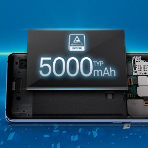 5000mAh large battery
