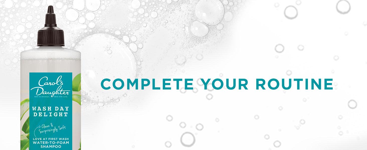 hair care, hair, complete your routine, shampoo, coil hair, thick hair, detangle, foam shampoo