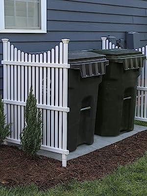 privacy screen, outdoor screen, trash bin hider