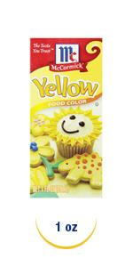 yellow food color