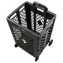 Olympia Tools 85-404 Pack-N-Roll Mesh Rolling Cart view of top with brackets.