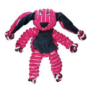 KONG; bunny; pink; vibrant; animal; design; ears; minimal stuffing