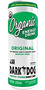 Dark Dog Organic Energy Drink Original flavor