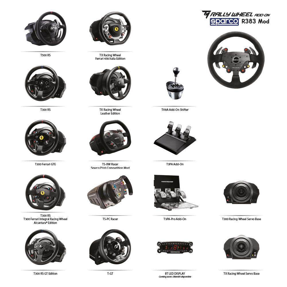 thrustmaster tm rally wheel add on sparco r383 mod informatique. Black Bedroom Furniture Sets. Home Design Ideas