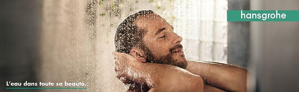 hansgrohe barre de douche unica reno avec entraxe de fixation réglable