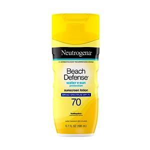 Neutrogena Beach Defense Sunscreen Face & Body Lotion with Broad Spectrum SPF 70 UVA UVB protection
