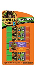 Gorilla Kids Glue Sticks Disappearing Purple