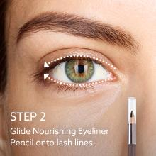 how to apply eyeliner;applying eye makeup;tutorial;tips;ideas;black;brown;won't smudge;pencil