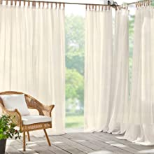 Highland Stripe Indoor Outdoor Curtain Panel