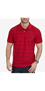 slim fit, polo, shirt, stripe, nautica