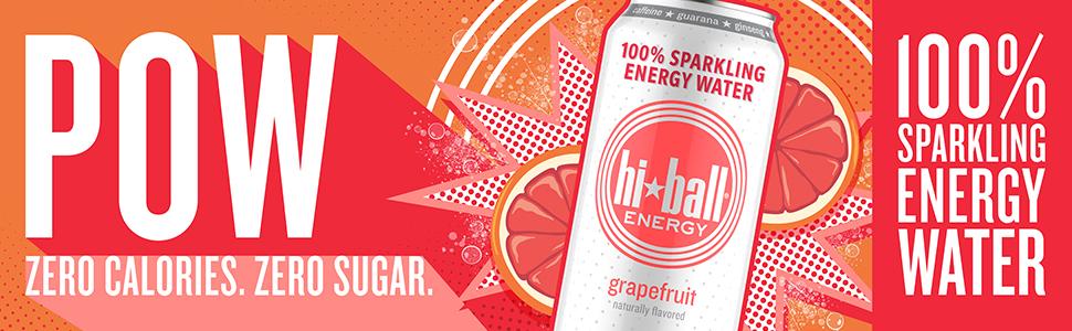 hiball sparkling energy water zero calorie zero sugar grapefruit lemon lime peach wild berry vanilla
