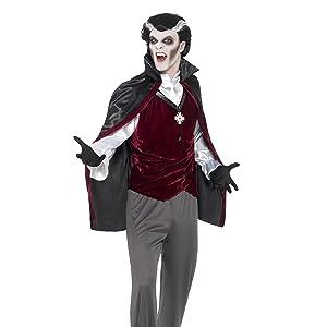 Smiffys-45115L Disfraz de vampiresa Medieval, Burdeos, con Vestido ...