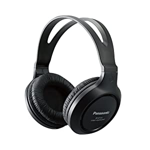 Panasonic Headphones RP-HT161-K Full-Sized Over-the-Ear Lightweight Long-Corded