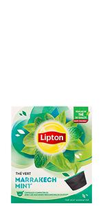 Lipton Thé Vert Marrakech Mint Capsules Dolce Gusto 12 capsules, thé a la menthe, capsules thé