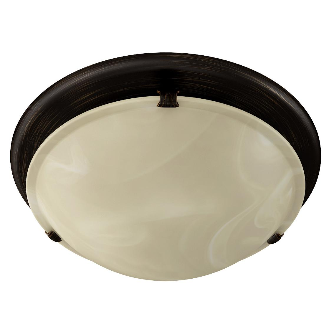 Broan-NuTone 761RB Round Fan and Light Combo for Bathroom and Home,  Oil-Rubbed Bronze Finish with Ivory Alabaster Glass, 2.5 Sones, 80 CFM